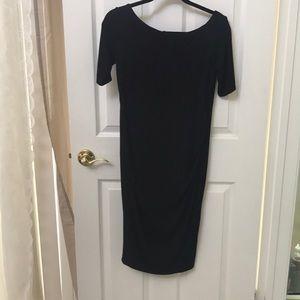 MIDI pregnancy black dress
